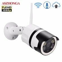 2MP Mini Ev wifi güvenlik kamerası Açık 1080 P HD Wi Fi IP Kamera Su Geçirmez IR Gece Görüş CCTV Gözetim Mermi Kamera