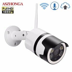Image 1 - 2MP Mini Home Wifi Security Camera Outdoor 1080 P HD Wifi IP Camera Waterdichte IR Nachtzicht CCTV Surveillance Bullet cam