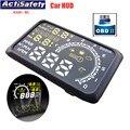 "ActiSafety 5.5 ""tela Auto Porta OBD2 OBDII Car HUD Head Up Display KM/h Sistema de Alarme de Excesso de Velocidade Aviso MPH Brisa Projetor"