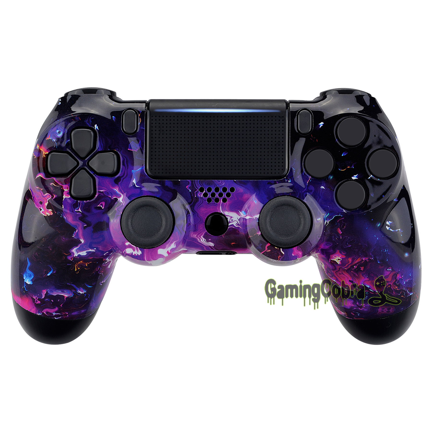 Surreal Lava Patterned Faceplate Front Housing <font><b>Shell</b></font> Cover Replacement Part for PS4 Slim Pro Controller <font><b>JDM</b></font>-040 <font><b>JDM</b></font>-050 <font><b>JDM</b></font>-<font><b>055</b></font> image