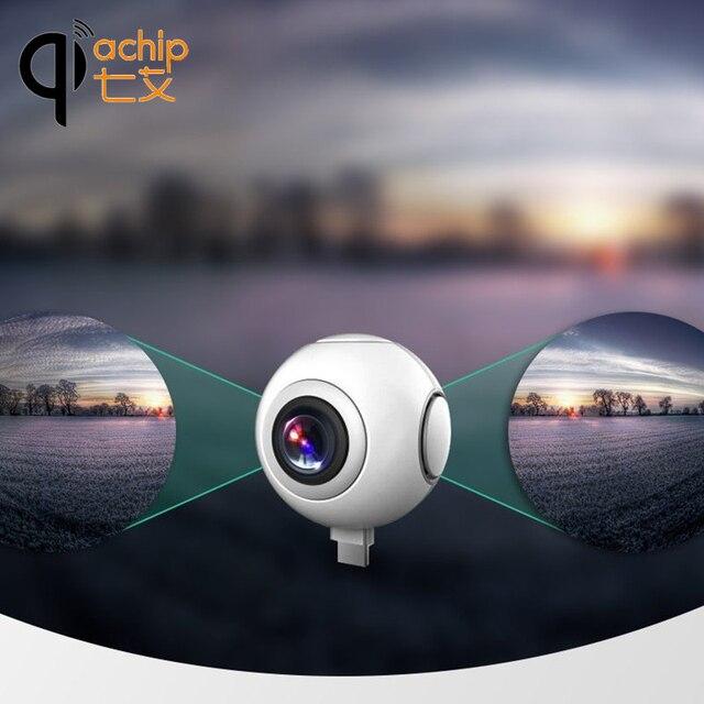 720 Độ Máy Ảnh Toàn Cảnh HD 360 Phim VR Máy Ảnh Kép Dual Ống Kính