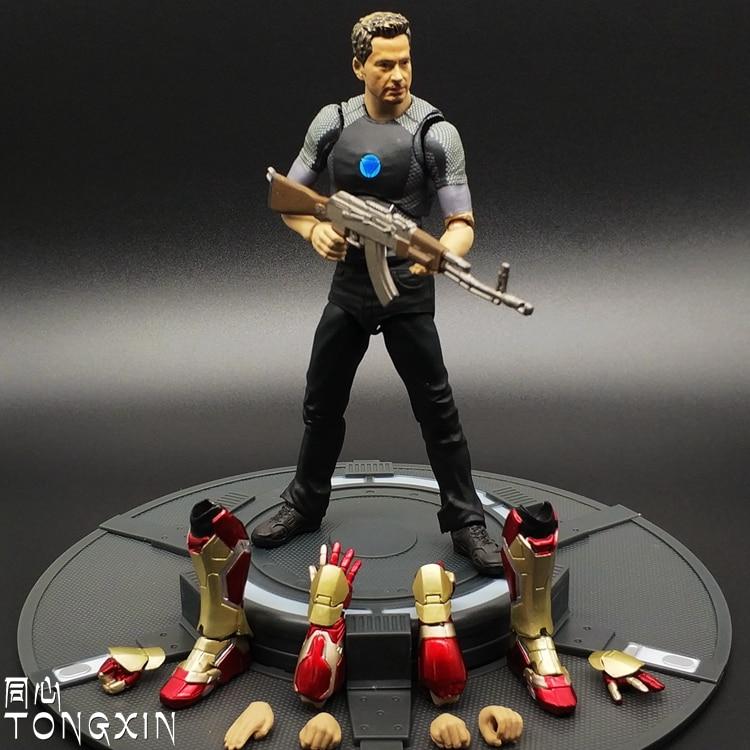 SHF Iron Man Figure Model Toys Debugging Version Of The MK43 Toni Stark Action Figure the man in the iron mask teacher s book книга для учителя