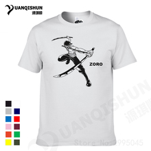 YUANQISHUN Brand Tshirt Hot Anime One Piece Roronoa Zoro T Shirt Short Sleeve Cotton Unisex Lover Casual T-shirt Cosplay Costume
