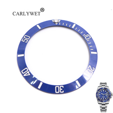 CARLYWET Wholesale Replacement Blue With White Writings Ceramic Bezel 38mm Insert made for Submariner GMT 40mm 116610 LN