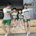 Roupas Combinando Roupas de verão Da Família Família Definir T-Shirt de Algodão + Calças Calções de Praia Pai Mãe Filho Filha Olhar Família