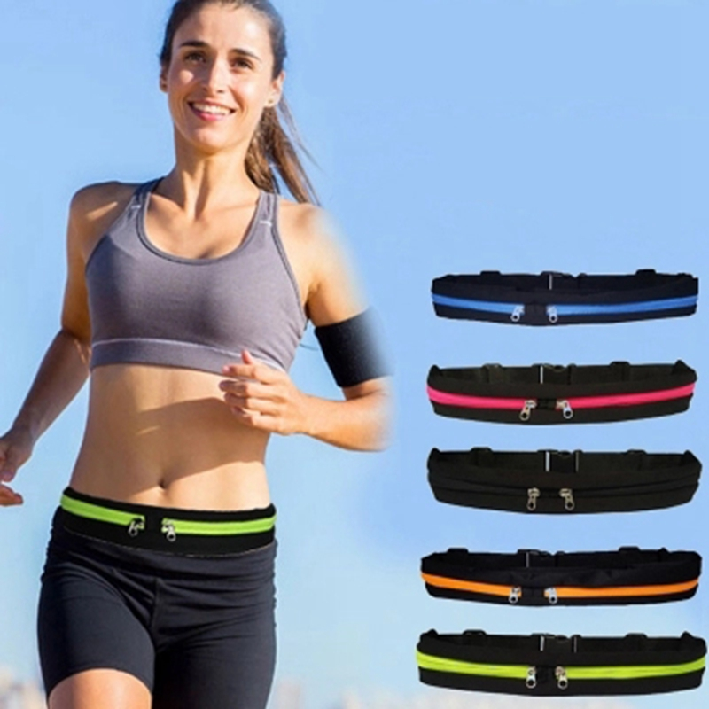 Waist Running Bag Outside Sport Mobile Phone Waterproof Mobile Phone Belt Jogging Waist Pack Carrying Portable