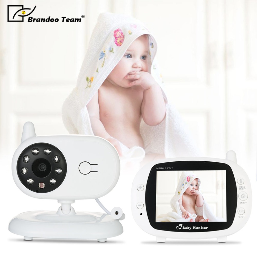 Free shipping,Brandoo Wireless Digital 3.5 LCD Baby Monitor Camera Audio Talk Video Night Vision High Resolution Home Security bonlor 2 4g wireless digital 3 5 lcd baby monitor camera audio talk video night vision high resolution home security