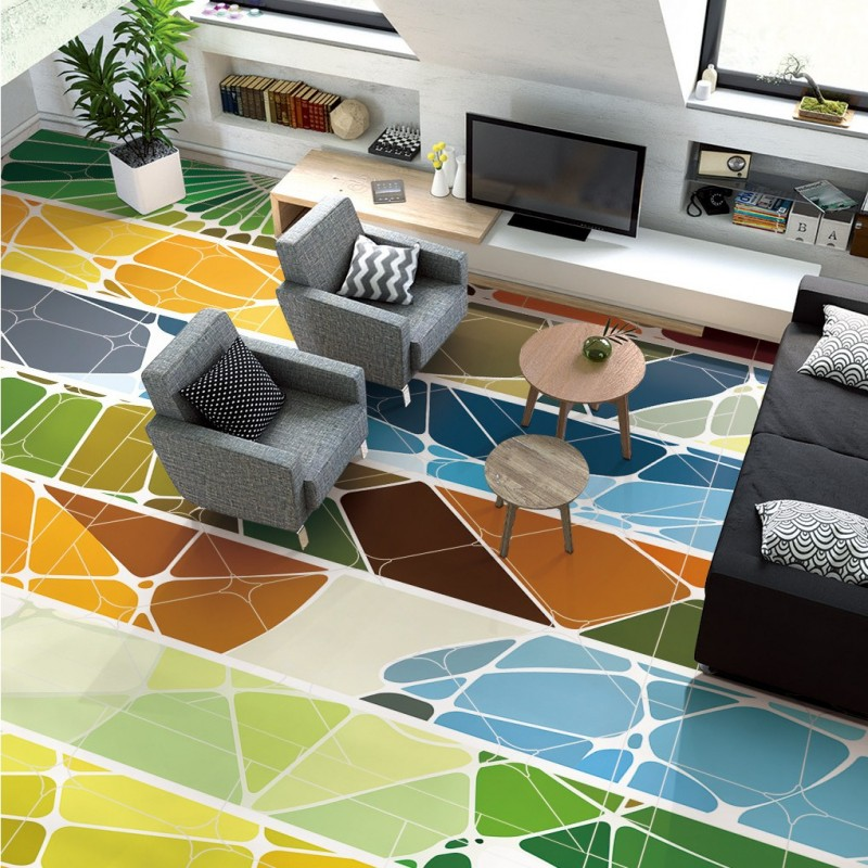 Free Shipping 3D Stereo Fashion Abstract Parquet Pattern Self-adhesive living room bathroom hall flooring mural wallpaper abstract mural wallpaper customize living room bathroom 3d flooring bedroom pvc self adhesive wallpaper
