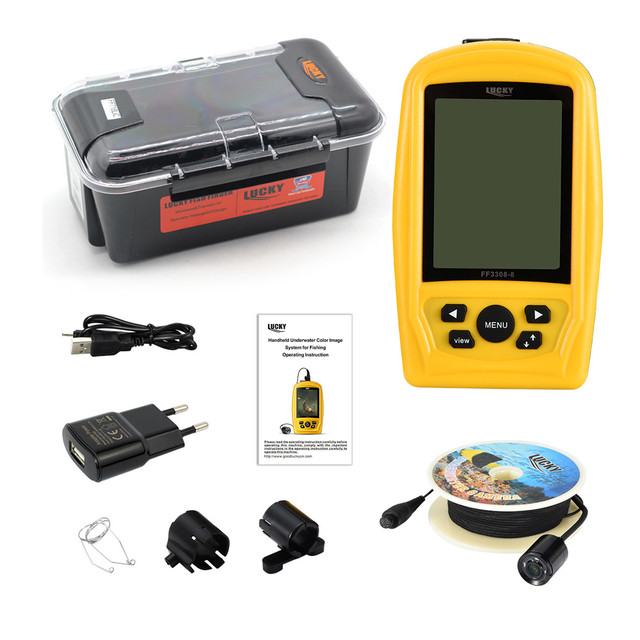 """LUCKY Portable Underwater Fishing&Inspection Camera Night vision Camera System CMD sensor 4.3"""" LCD Monitor Fish Sea 20M Cable 1"""