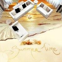 Бесплатная доставка на заказ гостиная, спальня hotel полы росписи golden beach Starfish В виде ракушки 3D стерео пол обои