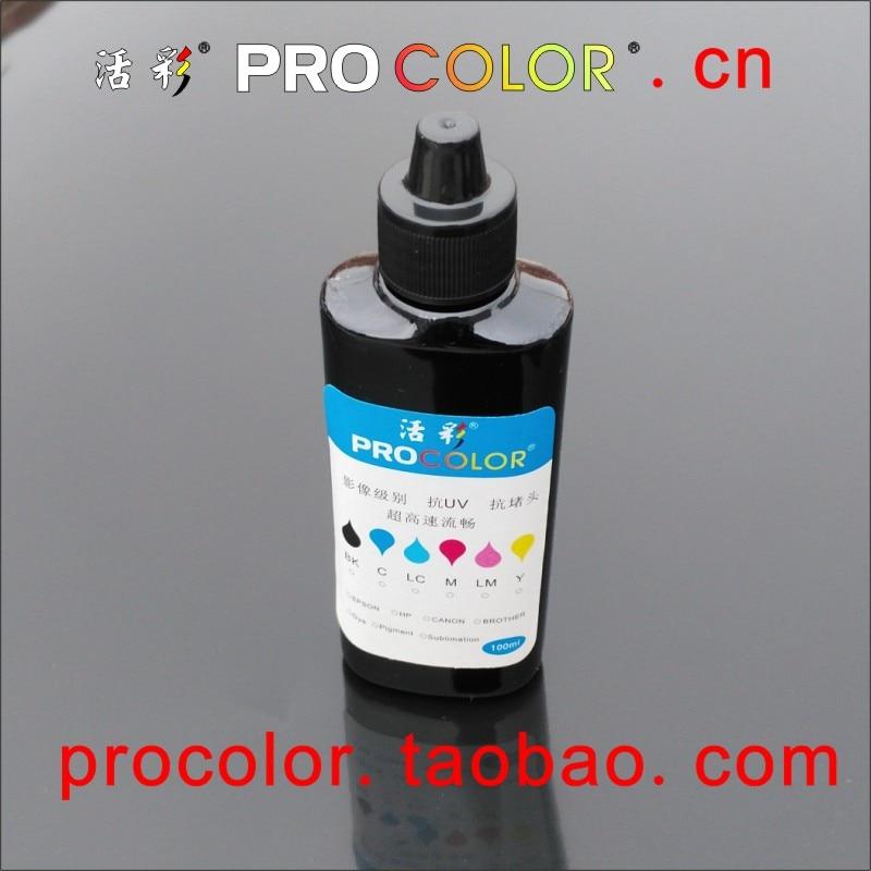 Zwarte inkt Navulset voor CANON HP alle inkjetprinter navulbare inkjetcartridge CISS-systeeminkttank Navulling 100 ml zwarte dye-inkt