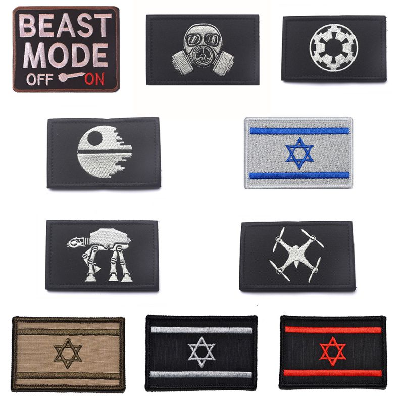 Apparel Sewing & Fabric New Fashion Israel Flag Star Wars Military Tactical Embroidery Army Morale Badge Armband 10 Style Arts,crafts & Sewing