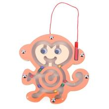 Magnetic Cartoon Animal Kids Wooden font b Toys b font Puzzle Children Magnetic Maze font b