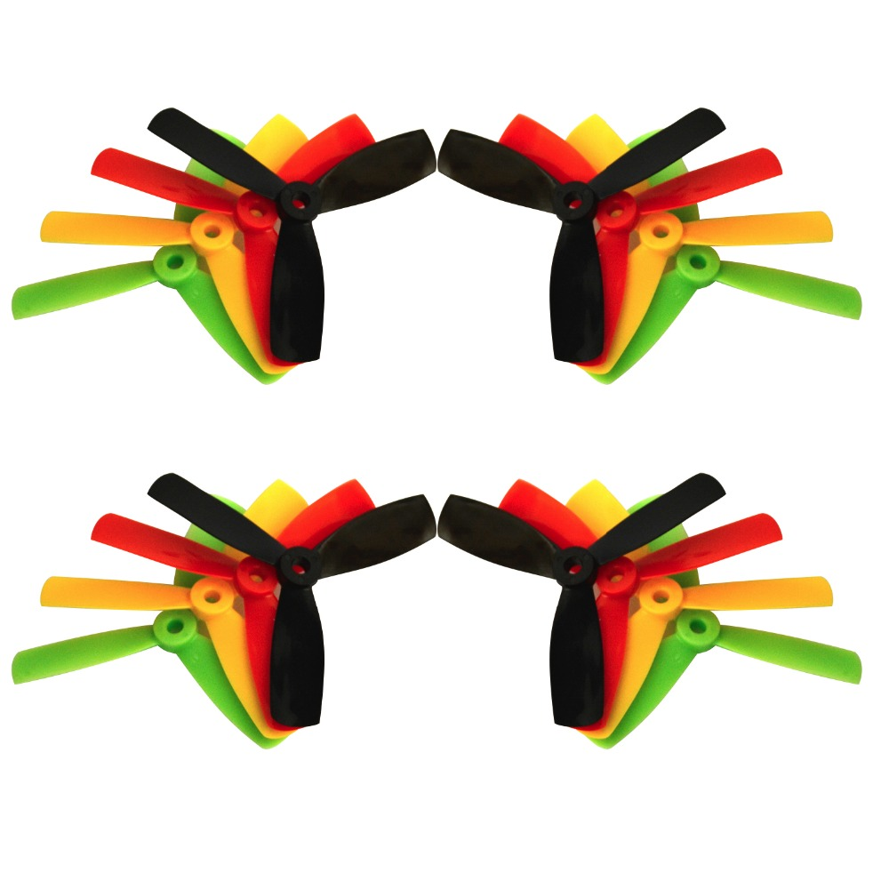 Quadcopter propellers Kingkong 4*4*3 4040 4 Inch 3-Blade Rainbow Colorful 8 pairs Propeller CW CCW for FPV Racing drone