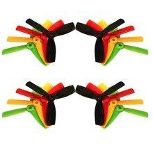 Hélices quadcopter kingkong 4*4*3 4040 4 polegada íris coloridos 8 pares 3-blade propeller cw ccw para corridas de fpv zangão