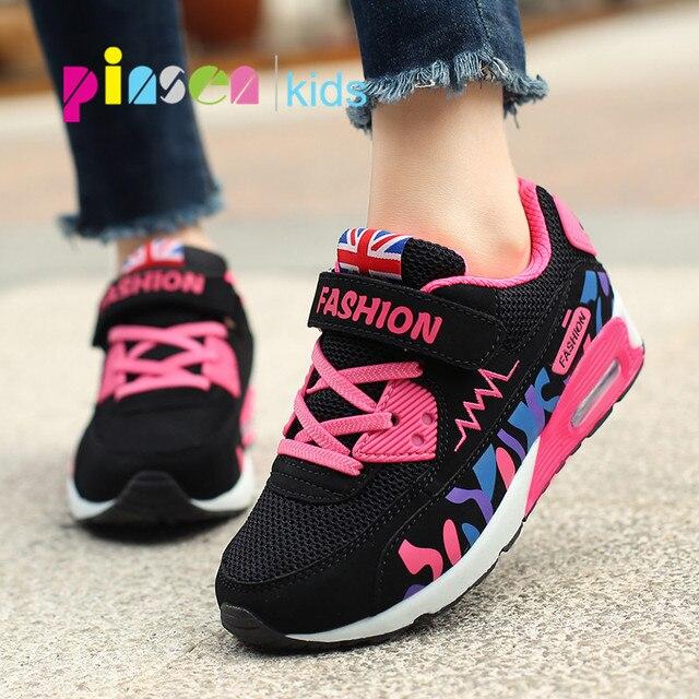 PINSEN 2020 enfants chaussures pour filles baskets respirant élastique chaussures décontractées mode enfants baskets fille Sport chaussures