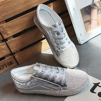 Fashion Women Sneakers Casual Shoes Female Summer Canvas Shoes Trainers Lace Up Ladies