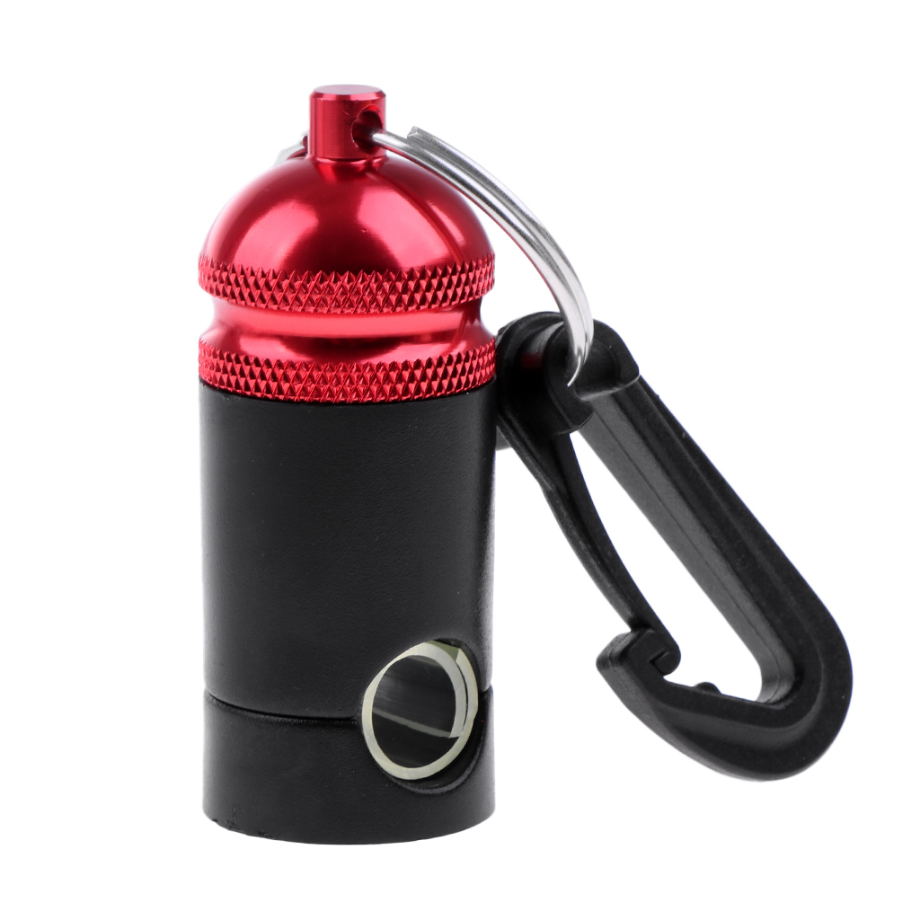 Scuba Diving Aluminum Regulator Hose Holder Keeper with Clip Red Black
