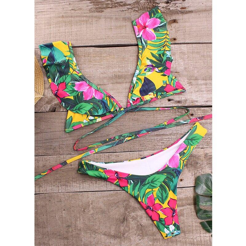 HTB1KbQiVCzqK1RjSZFLq6An2XXah Rubylong 2019 Ruffles Bikini Women Sexy Vintage Swimsuit Brazilian Thong Bikini Set Female Retro Swimwear Push Up Bathing Suit