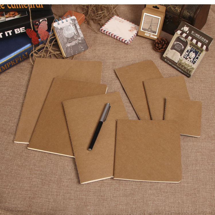 cowhide paper notebook blank notepad book vintage soft copybook daily memos Kraft cover journal notebooks 11*21cm