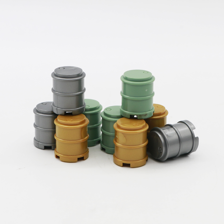 compatible lego military oil drum