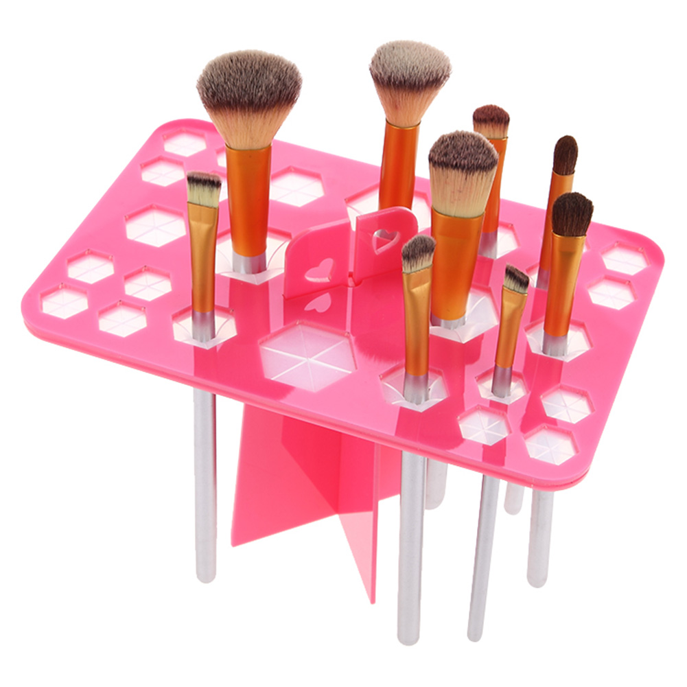 26 Holes Acrylic Makeup Brushes Holder Stand Foldable Organizing Rack Cosmetic Brush Drying Holders maquiagem DL