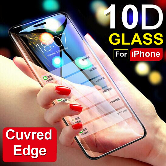 MYRIANN 10D Full Cover Real Tempered Glass Screen Protector For iPhone X XS MAX XR