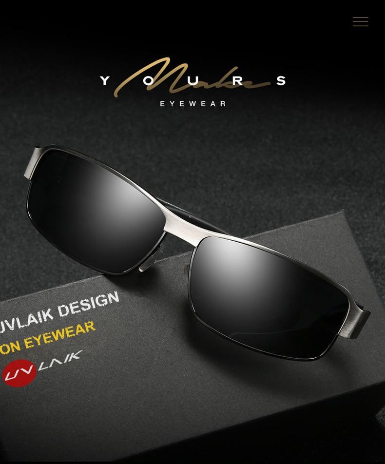 1b788e96735f5 UVLAIK Luxury Brand Mens Polarized UV400 Sunglasses For Men Driving ...