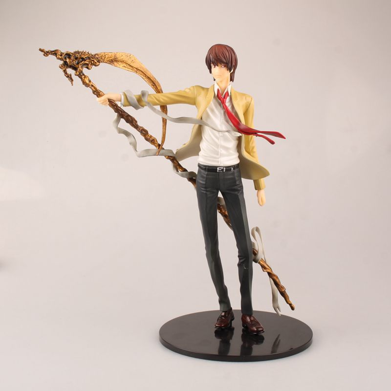 Free Shipping 10 Death Note Anime L Yagami Light Killer Kira Boxed 26cm PVC Action Figure Colletion Model Doll Toy Kid Gift death note necklace japan anime l ryuuzaki zinc alloy silver necklaces retail bulk free shipping