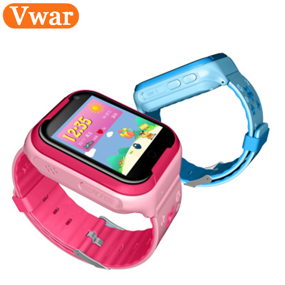 VM50 4G Network GPS Tracker Kids Smart Watch Child Safe Monitor Android IOS Waterproof Baby SOS Remote Monitor Camera Wristwatch ds18 waterproof smart baby watch gps tracker for kids 2016 wifi sos anti lost location finder smartwatch for ios android pk q50