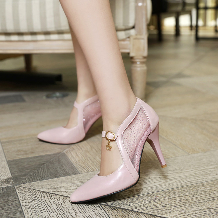 38eac411b9 US $26.95 45% OFF|BIG Plus Size ladies shoes women shoes high heel 2018  women pumps sapato feminino summer style summer shoes chaussure femme  205-in ...