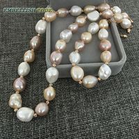 Special Irregular Pearl And Rose Golden Beads Necklace Bracelet Set Mixed Color White Pink Purple Freshwater
