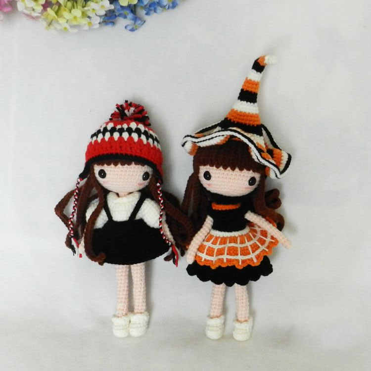 25*8 см ручная вязка крючком амигуруми кукла с одеждой три комплекта одежды опционально мягкая плюшевая детская мягкая кукла игрушка девочка подарок