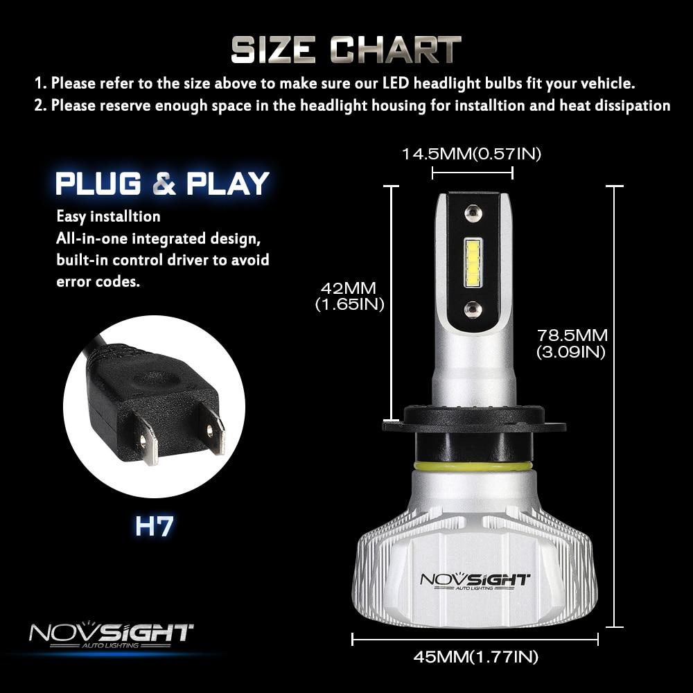 HTB1KbRkpwKTBuNkSne1q6yJoXXa0 NOVSIGHT Car Headlight H4 Hi/Lo Beam LED H7 H1 H3 H8 H9 H11 H13 9005 9006 9007 50W 10000lm 6500K Auto Headlamp Fog Light Bulbs