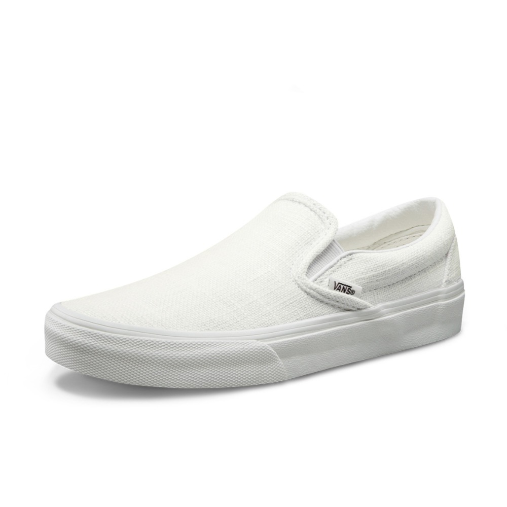 cc88910f9136 Original Vans White and Pink Women s Slip-On Skateboarding Shoes Sports  Shoes Canvas Shoes Authentic Sneakers