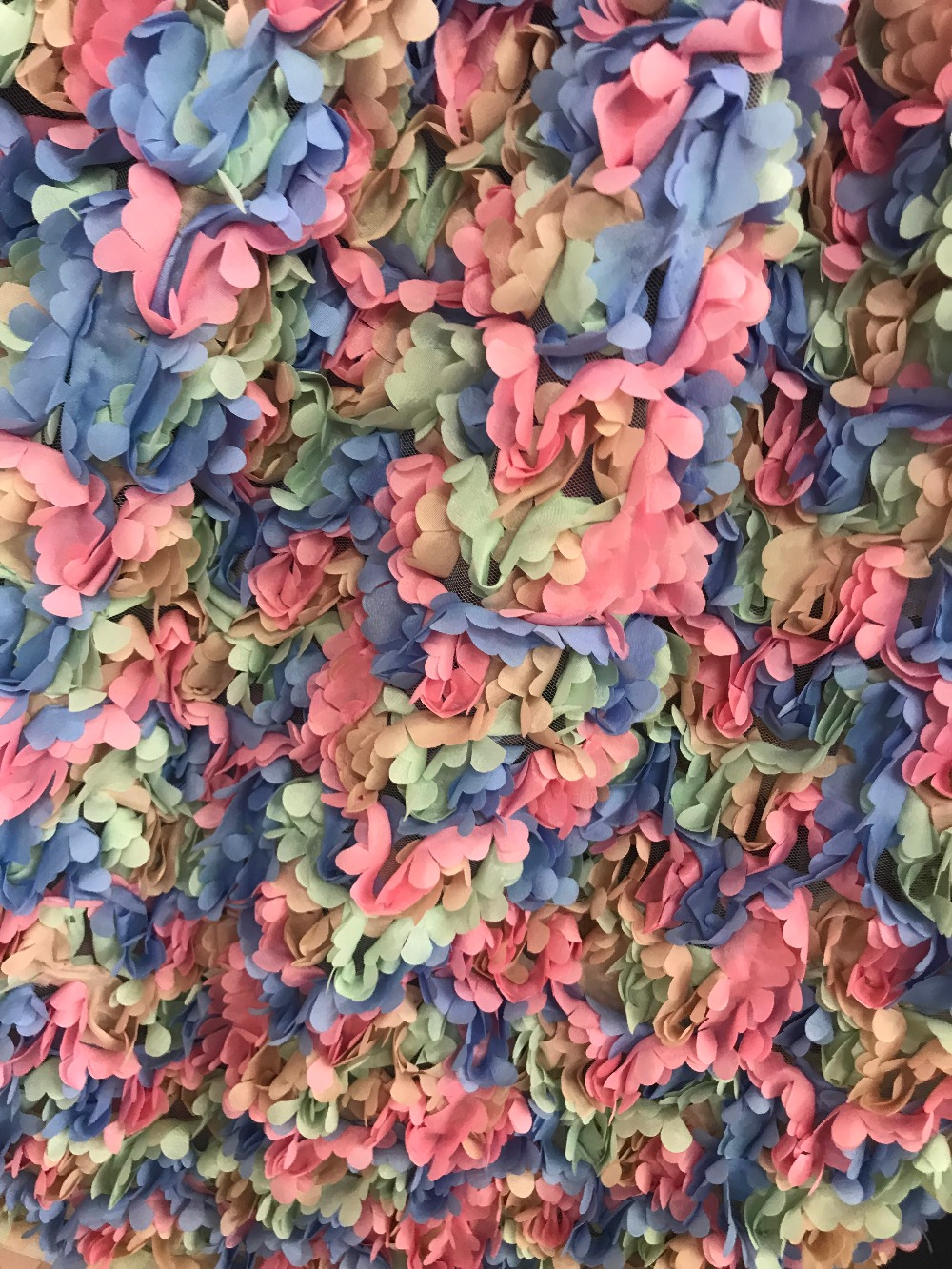 JIANXI C 121140 top quality 3d flower embroidery french lace fabric unique african tulle lace fabric