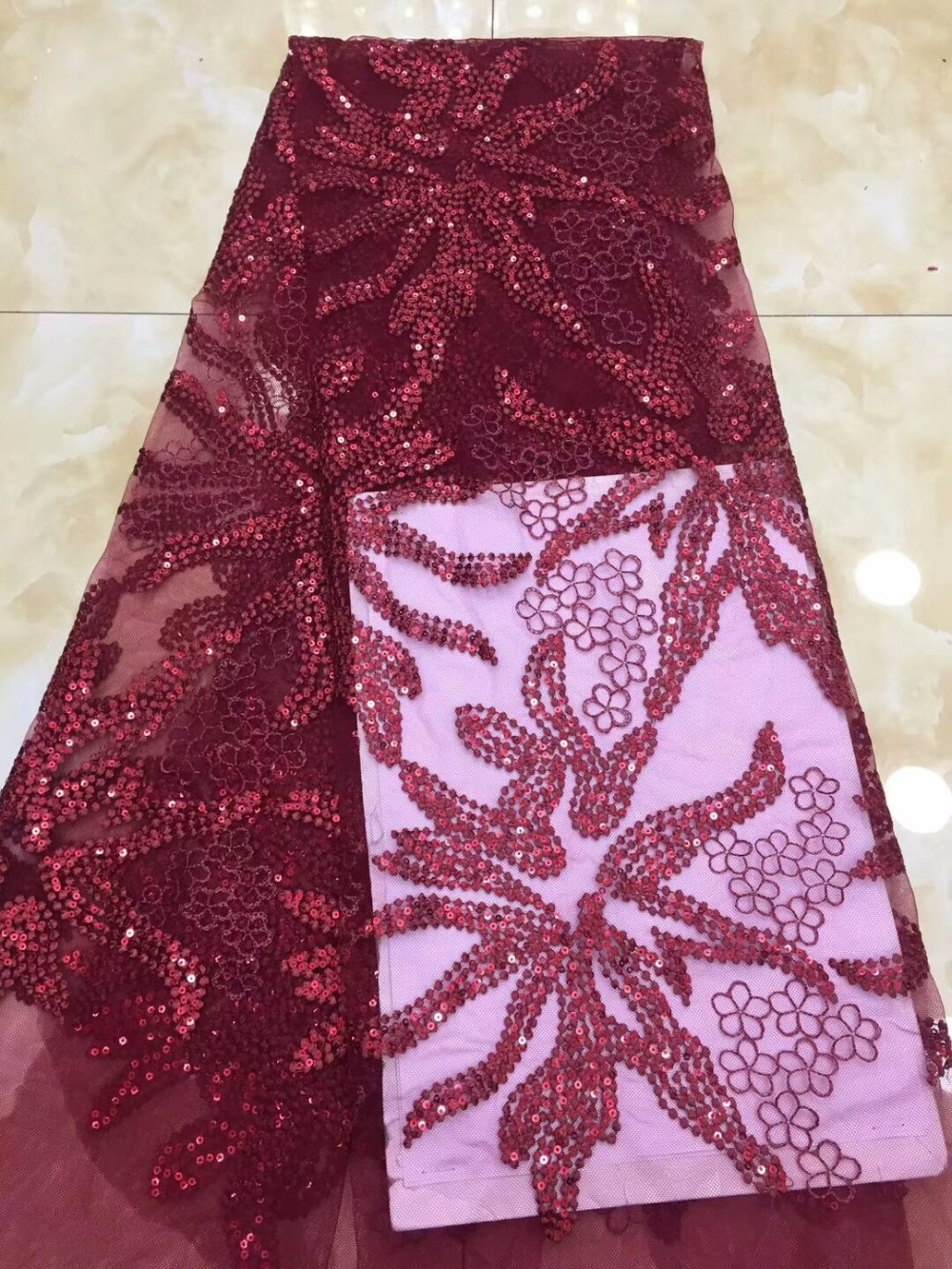 Latest sequins  Lace Fabrics Embroidered African French Tulle Lace Fabric 2018 Cord Nigerian French Lace Fabric     DPJ221Latest sequins  Lace Fabrics Embroidered African French Tulle Lace Fabric 2018 Cord Nigerian French Lace Fabric     DPJ221