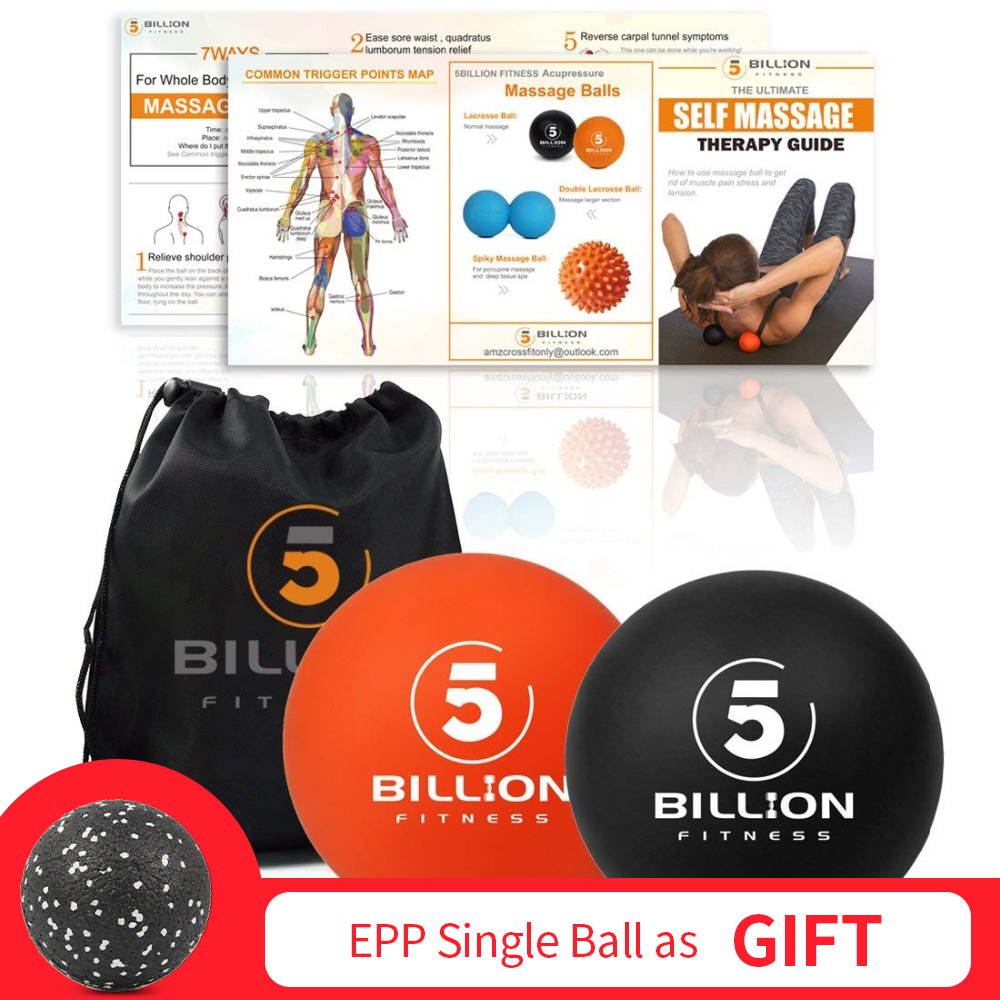 PROCIRCLE Massage Lacrosse Bälle für Selbst-myofascial Release Therapie Muscle Knoten und Yoga Therapie Set von 2 Fest Bälle