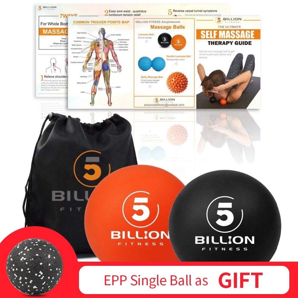 ①  5-миллиардный фитнес-массаж Spiky Mobility Ball + лакросс-шар Рук-массаж спины для ног Триггерная то ★