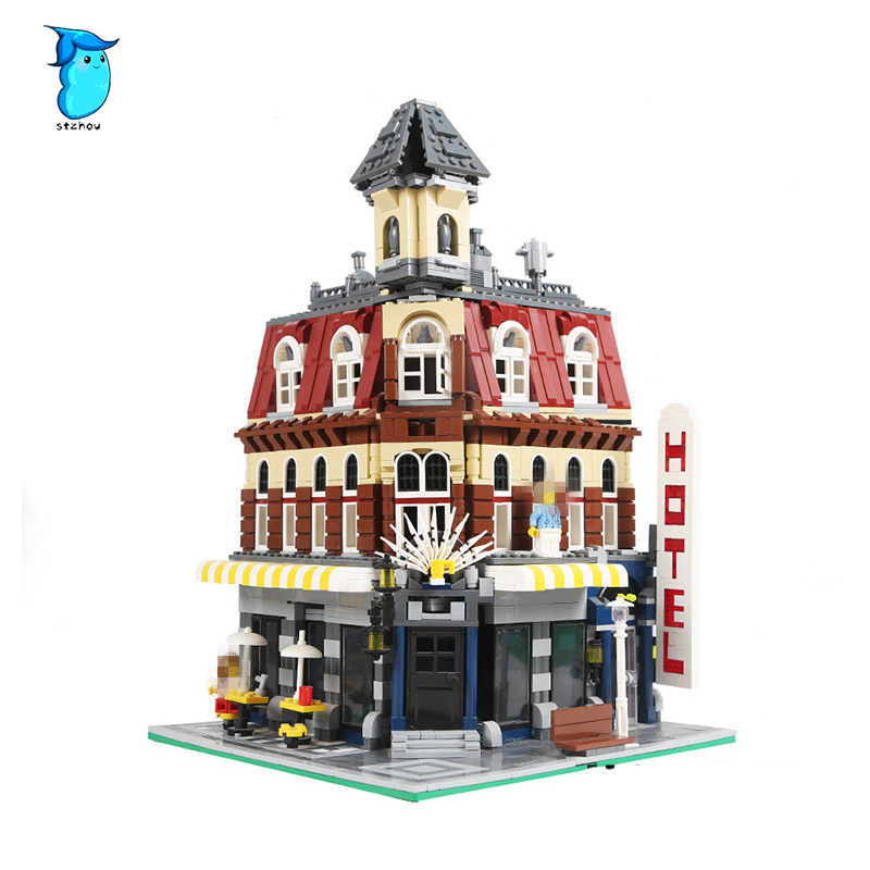 New 2133Pcs LEPIN 15002 Cafe Corner Model Building Kits Blocks Kid Toy Gift Compatible With 10182 new lepin 15002 2133pcs cafe corner model building kits blocks kid diy educational toy children day gift brinquedos 10182