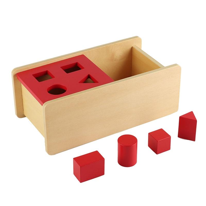 Jouets éducatifs Montessori avec géométrique pratique sensorielle Concentration aides pédagogiques jouet en bois jeux d'apprentissage LT035-3