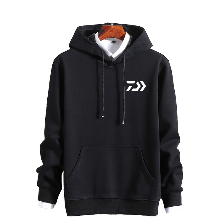 Winter DAIWA Dawa men cotton top outdoor brand fishing clothes warm breathable thickening hooded sweatshirt Fishing Long Sleeve