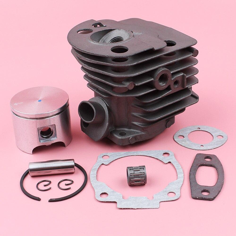 Piston de cylindre de 46mm avec le Kit de roulement à aiguilles de joint de carburateur de silencieux pour la pièce de rechange de tronçonneuse de Husqvarna 55 51