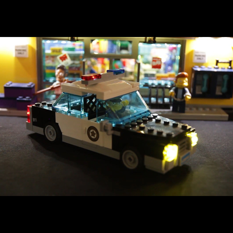 Led Light For Lego 71016 Building Blocks Creator City Street Compatible 16004 Simpsons Kwik E Mart Toys light with Battery box in Blocks from Toys Hobbies