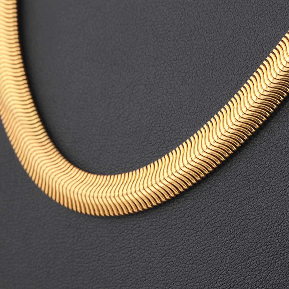 สีเหลืองทองสร้อยคอ Twist เครื่องประดับกระดูกสร้อยคอสร้อยคองู 8 มม.25 นิ้วสำหรับผู้ชายผู้หญิงเครื่องประดับ Flawlessc Pendientes แรงบิด