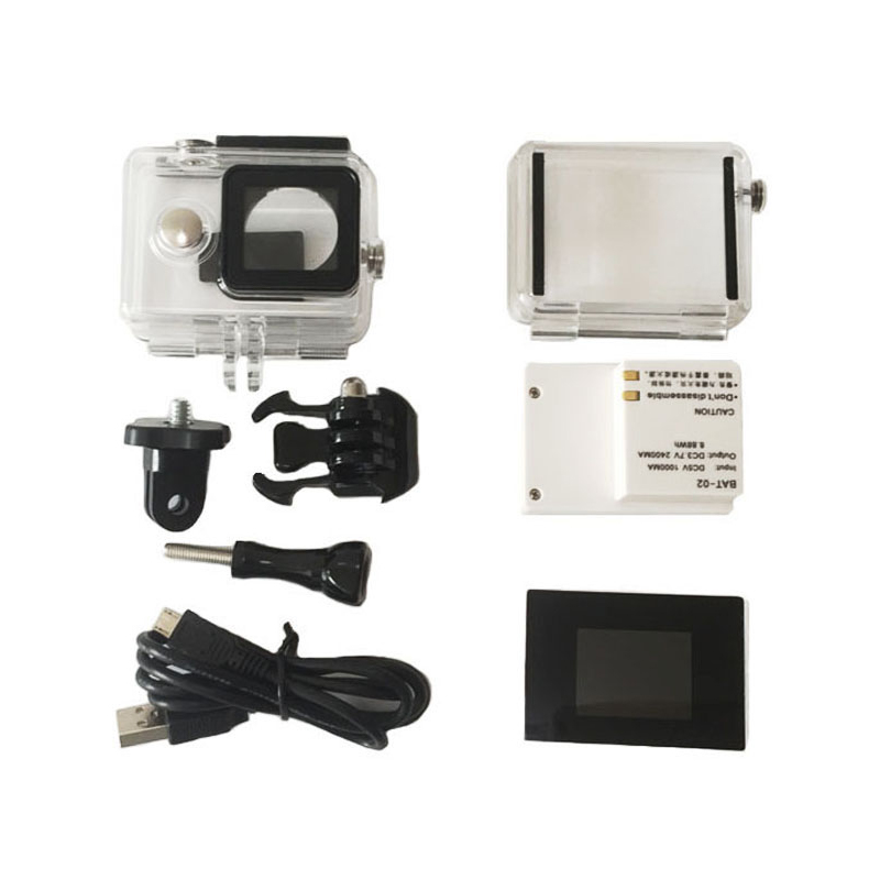 For Yi Action Camera Lcd display Screen+2400Mah Battery+Xiaomi Yi Case Waterproof Housing Box+Adapter For Camera Accessores Set