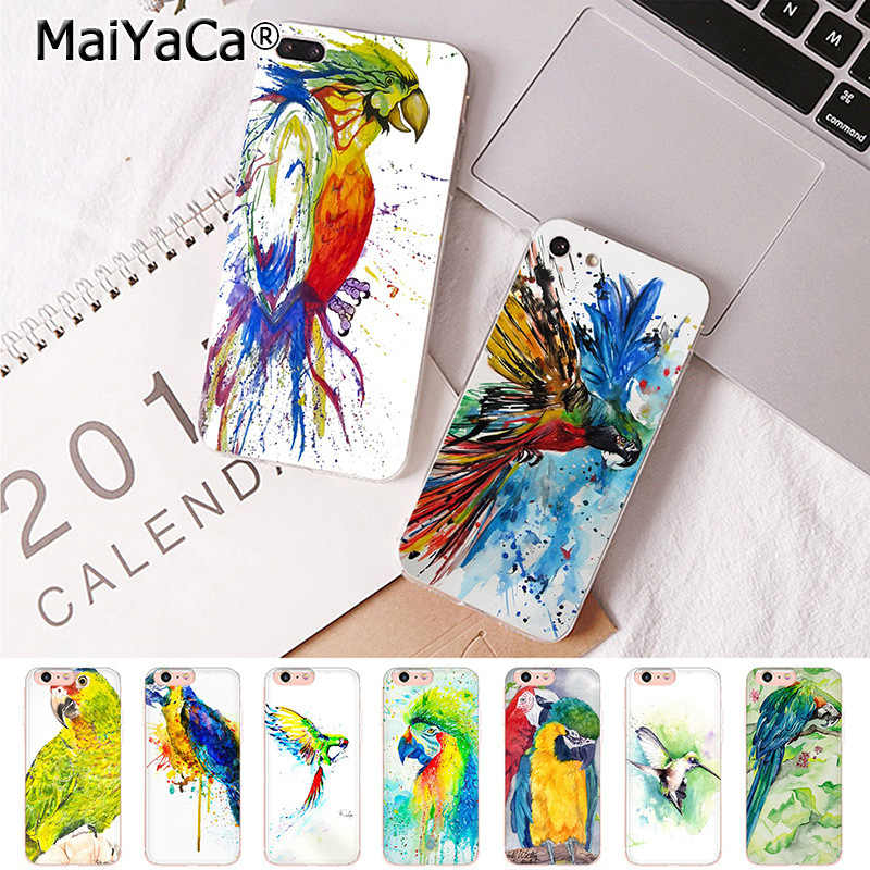 Watercolour Budgies iPhone 11 case