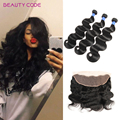 8a Full Lace Frontal Closure Free Part With Bundles 3 Pcs Brazilian Body Wave With Closure Ear To Ear Lace Frontal Closure