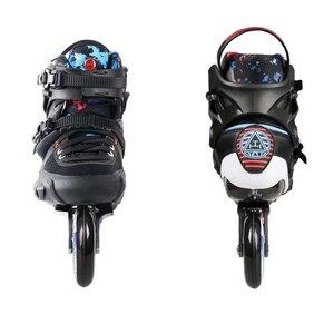 Image 2 - 2019 Original Powerslide TAU TRINITY 3*84/90mm Carbon Fiber Speed Inline Skates Adult Roller Skating Shoes Free Skating Patines