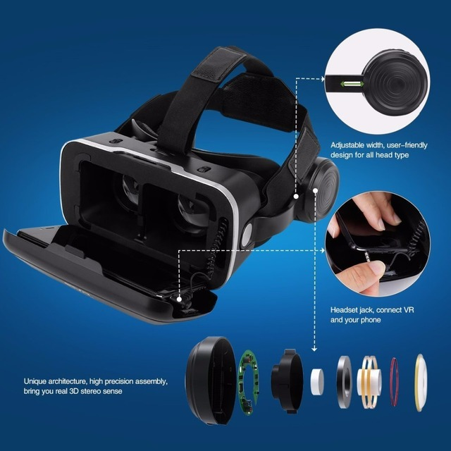 0d1fc582edf ETVR Upgraded Z4 VR Large Viewing Immersive Experience Vr box 3D Virtual  Reality Glasses with Stereo Headphone with gampad. Previous  Next